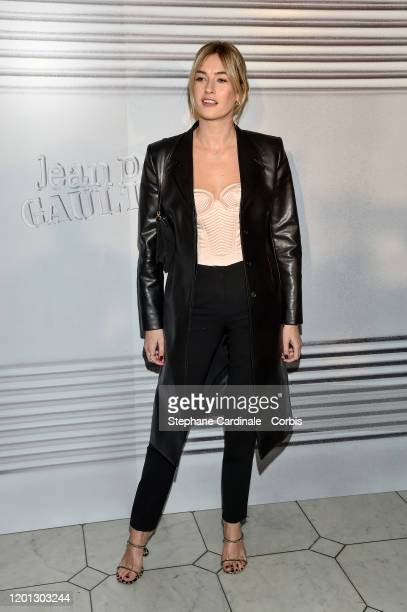 Camille Charriere attends the Jean-Paul Gaultier Haute Couture Spring/Summer 2020 show as part of Paris Fashion Week at Theatre Du Chatelet on...