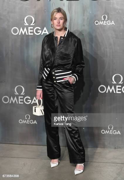 Camille Charriere attends the Lost In Space event to celebrate the 60th anniversary of the OMEGA Speedmaster at the Tate Modern on April 26 2017 in...