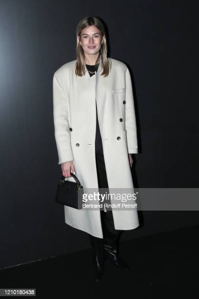 Camille Charriere attends the Louis Vuitton show as part of the Paris Fashion Week Womenswear Fall/Winter 2020/2021 on March 03, 2020 in Paris,...