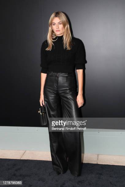 Camille Charriere attends the Louis Vuitton Womenswear Spring/Summer 2021 show as part of Paris Fashion Week on October 06, 2020 in Paris, France.