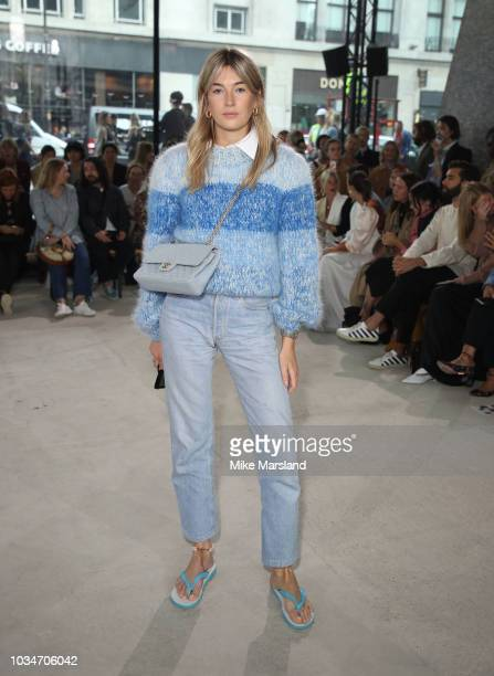Camille Charriere attends the REJINA PYO show during London Fashion Week September 2018 at on September 17 2018 in London England