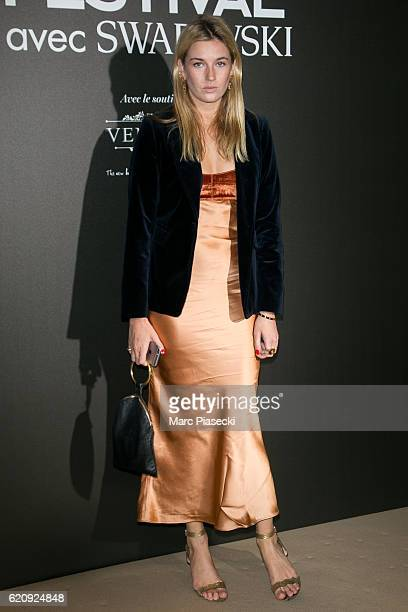 Camille Charriere attends the Vogue Fashion Festival dinner at Hotel Potocki on November 3 2016 in Paris France