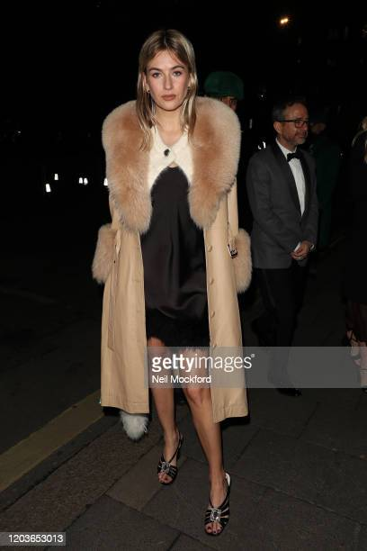 Camille Charriere attends the Vogue x Tiffany Fashion Film after party for the EE British Academy Film Awards 2020 at Annabel's on February 02 2020...