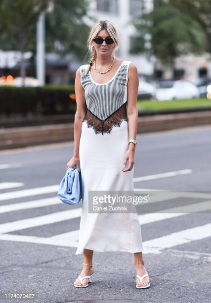 Camille Charriere is seen outside the Marc Jacobs show during New York Fashion Week S/S20 on September 11 2019 in New York City