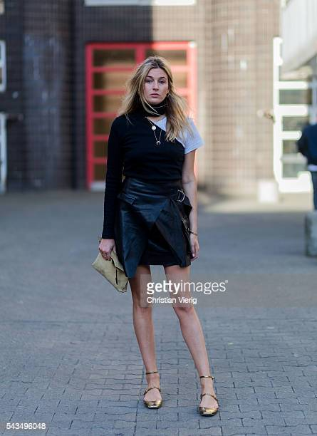 Camille Charriere outside Lala Berlin during the MercedesBenz Fashion Week Berlin Spring/Summer 2017 on June 28 2016 in Berlin Germany