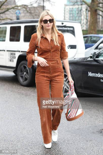 Camille Charriere seen attending the Christopher Kane at Tate Britain during LFW February 2018 on February 19 2018 in London England