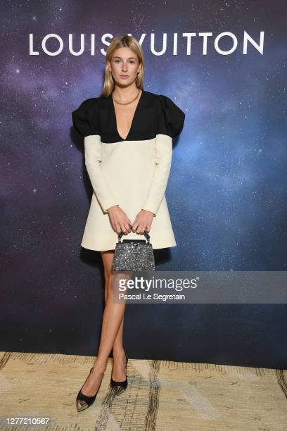 Camille Charrière attends the Louis Vuitton Stellar Jewelry Cocktail Event at Place Vendome on September 28, 2020 in Paris, France.