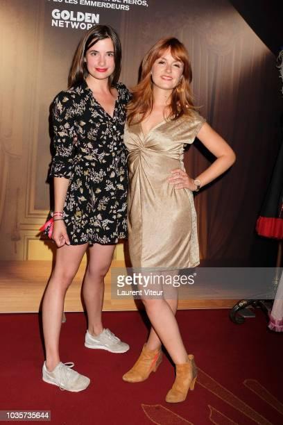 Camille Claris and Justine Le Pottier attend Les Emmerdeurs Groom Paris Premiere at Le Grand Rex on September 18 2018 in Paris France