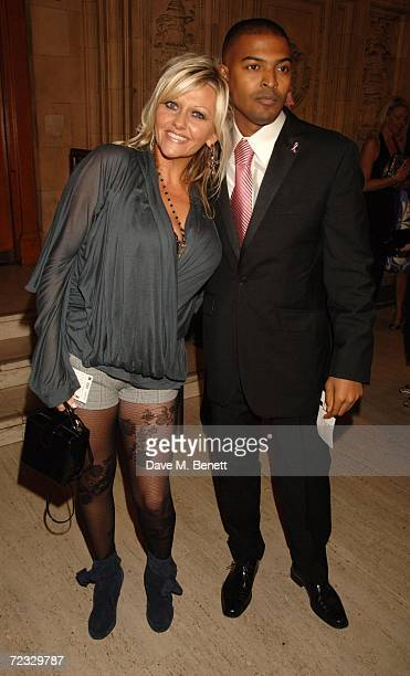 Camille Coduri and Noel Clarke arrive at the National Television Awards 2006 at the Royal Albert Hall on October 31 2006 in London England
