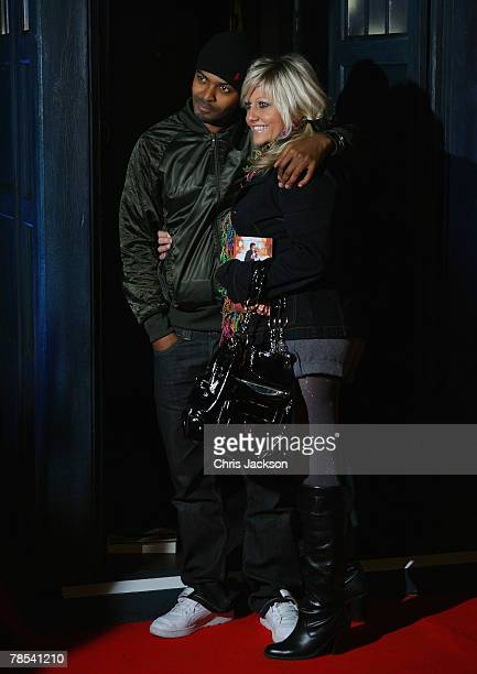 Camille Coduri and Noel Clarke arrive for the Gala Screening of the Doctor Who Christmas Episode at the Science Museum on December 18 2007 in London...