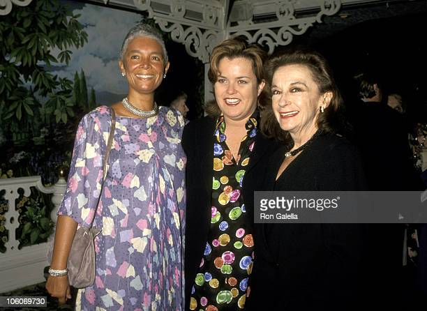 Camille Cosby Rosie O'Donnell and Zoe Caldwell during 1996 Women of Achievement Awards at Tavern on the Green in New York City New York United States