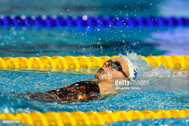 Camille Gheorghiu in Final 200m Backstroke of the French National Swimming Championships on December 3 2017 in Montpellier France