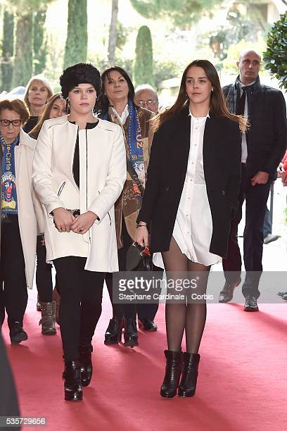 Camille Gottlieb and Pauline Ducruet attend the 39th International Circus Festival of MonteCarlo on January 18 2015 in Monaco