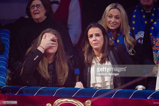 Camille Gottlieb and Pauline Ducruet attend the opening of MonteCarlo 36th International Circus Festival on January 19 2012 in MonteCarlo Monaco