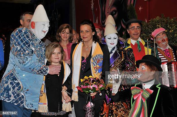 Camille Gottlieb and Princess Stephanie of Monaco attend the 33rd International Circus Festival of Monte Carlo on January 16 2009 in Monte Carlo...