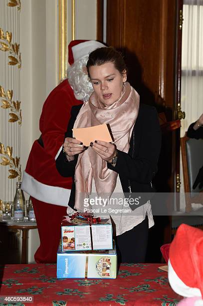 Camille Gottlieb attends the Christmas gifts distribution in the Monaco Palace on December 17 2014 in Monaco Monaco