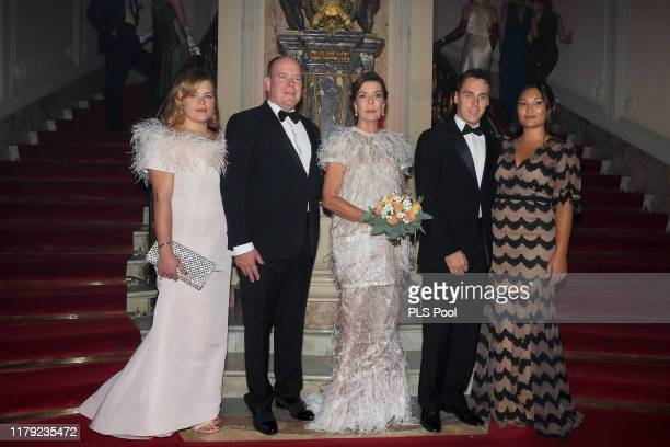 Camille Gottlieb Prince Albert II of Monaco Princess Caroline of Hanover Louis Ducruet and wife Marie attend the Secret Games Party at Monaco Casino...