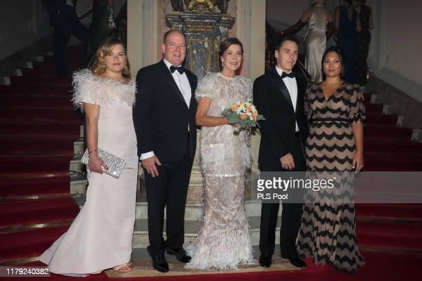 Camille Gottlieb, Prince Albert II of Monaco, Princess Caroline of Hanover, Louis Ducruet and wife Marie attend the Secret Games Party at Monaco...