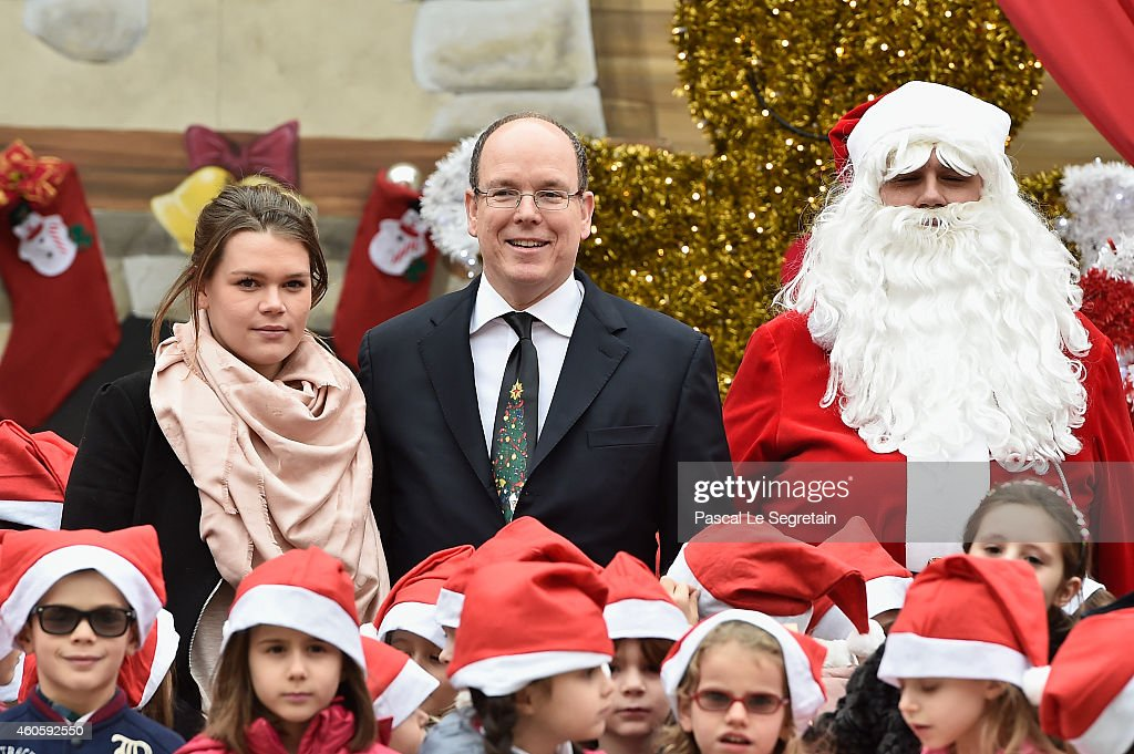Prince Albert II of Monaco Attends The Christmas Gifts Distribution At Monaco Palace in Monte-Carlo : News Photo