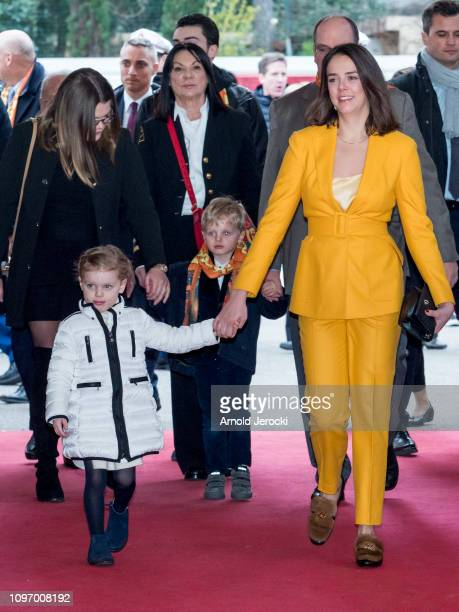 Camille Gottlieb Princess Gabriella Prince Jacques and Pauline Ducruet attend the 43rd International Circus Festival of MonteCarlo on January 20 2019...