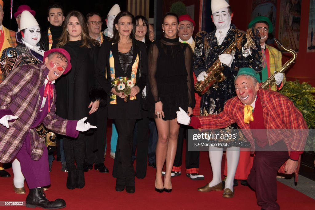 Camille Gottlieb, Princess Stephanie of Monaco and Pauline Ducruet attend the 42nd International Circus Festival in Monte Carlo on January 19, 2018 in Monaco, Monaco.