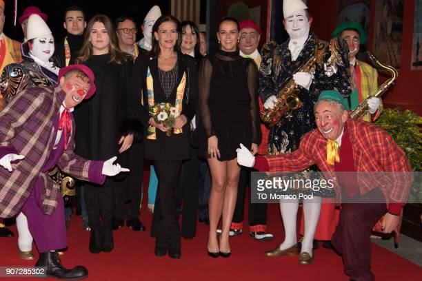 Camille Gottlieb Princess Stephanie of Monaco and Pauline Ducruet attend the 42nd International Circus Festival in Monte Carlo on January 19 2018 in...