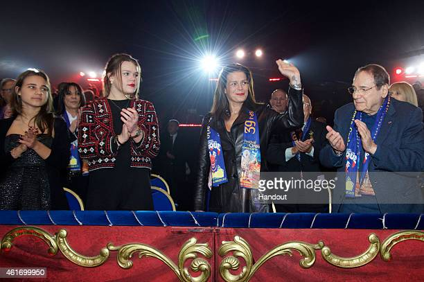 Camille Gottlieb Princess Stephanie of Monaco and Robert Hossein attend the 39th International Monte Carlo Circus Festival on January 17 2015 in...