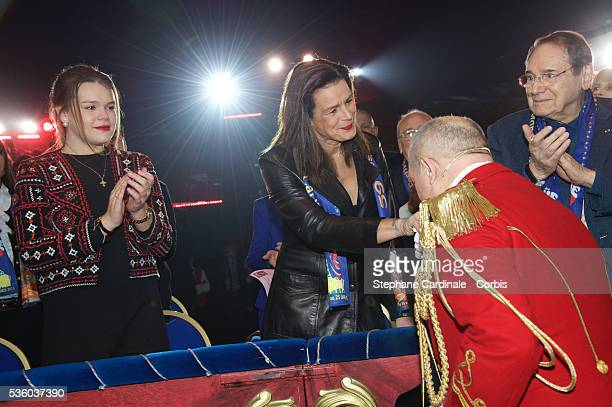 Camille Gottlieb Princess Stephanie of Monaco and Robert Hossein attend the 39th International Circus Festival of MonteCarlo on January 17 2015 in...