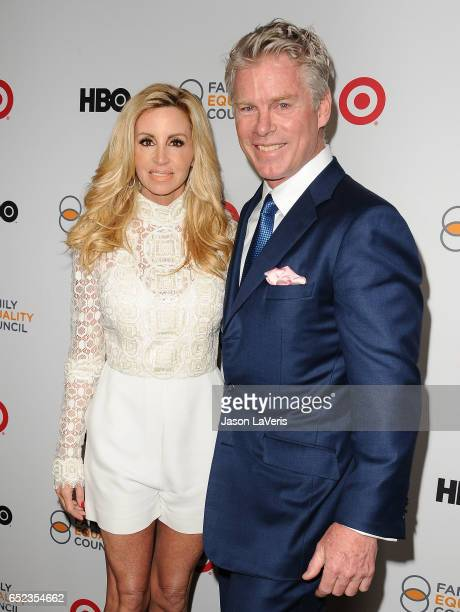 Camille Grammer and guest attend Family Equality Council's annual Impact Awards at the Beverly Wilshire Four Seasons Hotel on March 11 2017 in...