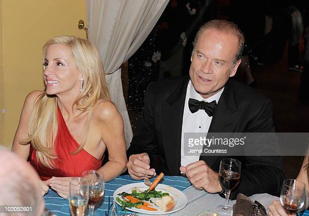Camille Grammer and Kelsey Grammer attend the after party following the 64th Annual Tony Awards at Rockefeller Center on June 13 2010 in New York City
