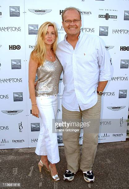 Camille Grammer and Kelsey Grammer during Hamptons Magazine and DirectTV Present Sneak Peek of New Season of HBO's 'Entourage' at Pink Elephant at...