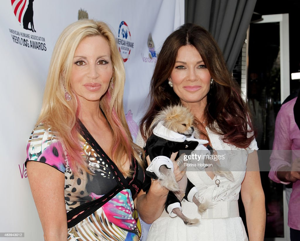 Camille Grammer and Lisa Vanderpump attend Lisa Vanderpump's luncheon benefitting the American Humane Association and the Hero Dog Awards at Pump on August 13, 2015 in West Hollywood, California.