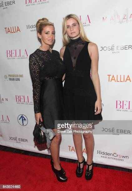 Camille Grammer and Mason Grammer attend Bella Magazine NYFW Kickoff Party at The Attic Rooftop Lounge on September 6 2017 in New York City