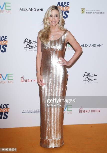 Camille Grammer arrives to the 25th Annual Race To Erase MS Gala held at The Beverly Hilton Hotel on April 20 2018 in Beverly Hills California