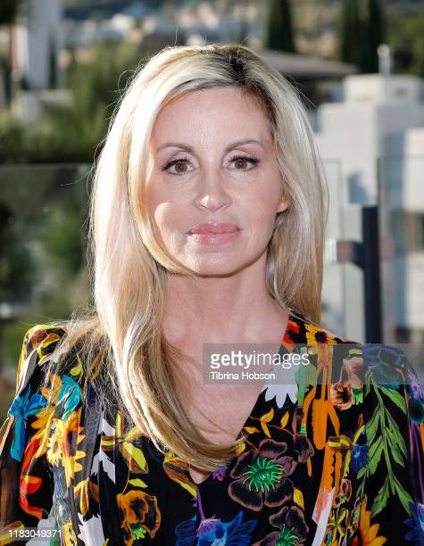 Camille Grammer attends Kobi Halperin's Pre Spring 2020 collection hosted by Mr Warburton Magazine at The Chamberlain on October 23 2019 in West...