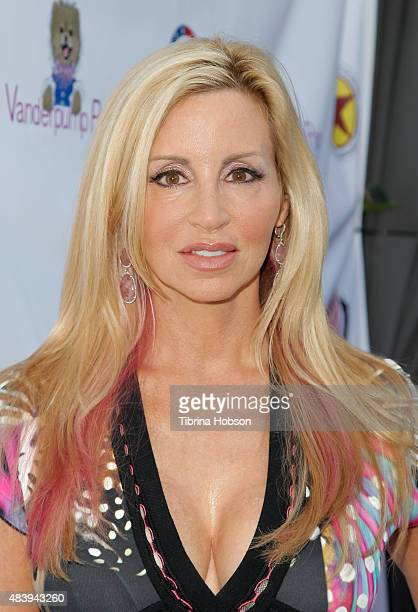 Camille Grammer attends Lisa Vanderpump's luncheon benefitting the American Humane Association and the Hero Dog Awards at Pump on August 13 2015 in...