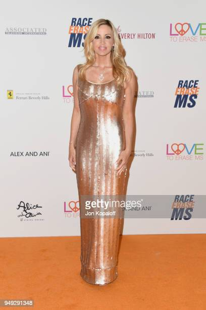 Camille Grammer attends the 25th Annual Race To Erase MS Gala at The Beverly Hilton Hotel on April 20 2018 in Beverly Hills California