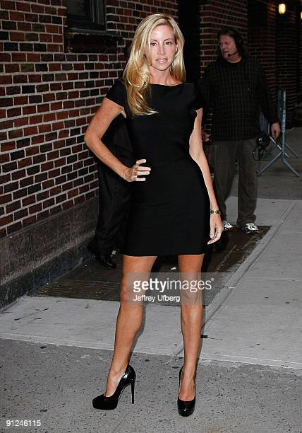 Camille Grammer visits 'Late Show with David Letterman' at the Ed Sullivan Theater on September 29 2009 in New York City