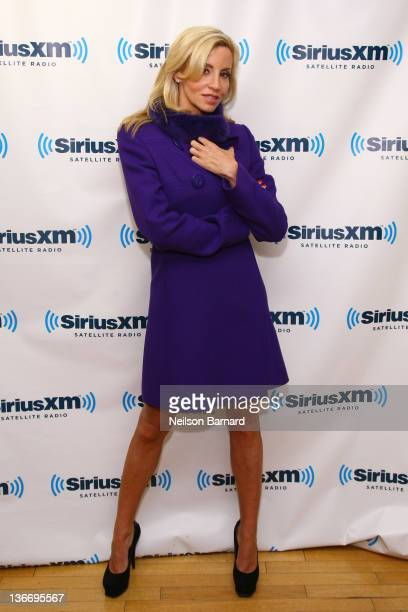 Camille Grammer visits SiriusXM Studios on January 10 2012 in New York City