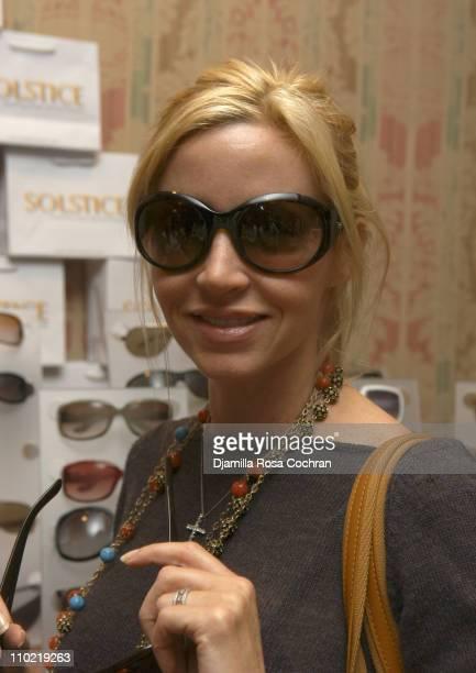 Camille Grammer wearing Ralph Lauren 910S Sunglasses