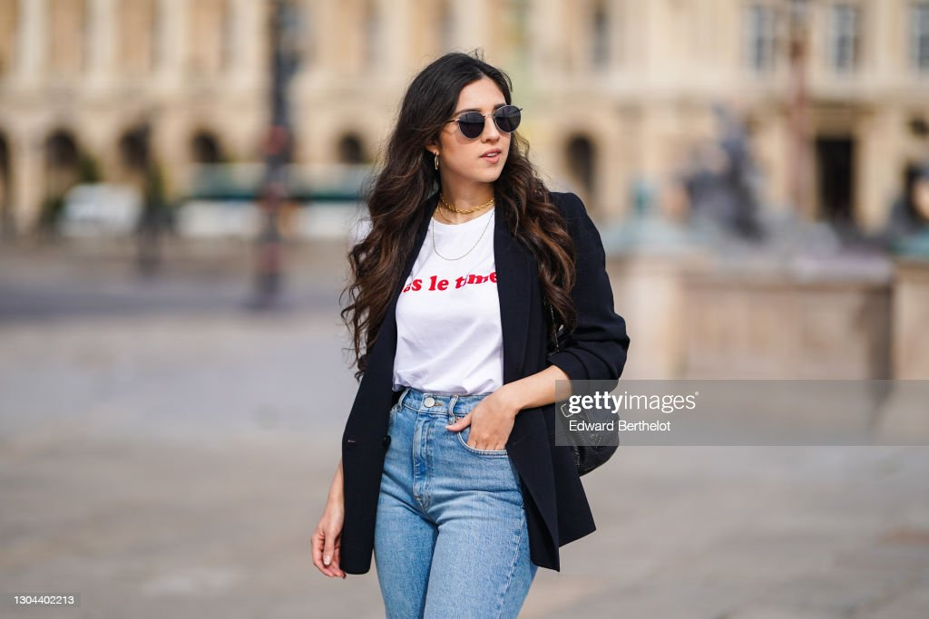 Fashion Photo Session In Paris - February 2021 : News Photo