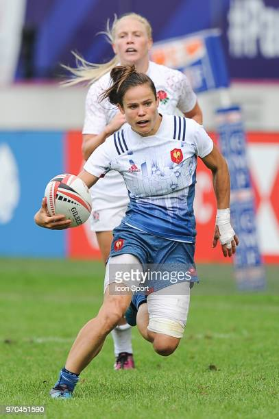 Camille Grassineau of France during match between France and England at the HSBC Paris Sevens stage of the Rugby Sevens World Series at Stade Jean...