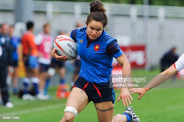 Camille GRASSINEAU of France during the HSBC Women's Sevens Series match between France vs USA on May 29 2016 in Clermont France