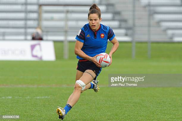 Camille GRASSINEAU of France during the HSBC Women's Sevens Series match between France vs Spain on May 29 2016 in Clermont France