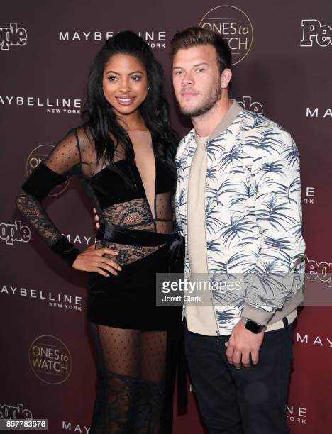 Camille Hyde and Jimmy Tatro attend People's Ones To Watch at NeueHouse Hollywood on October 4 2017 in Los Angeles California