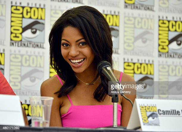 Camille Hyde from Saban's Power Ranger Dino Charge participates in the official San Diego ComicCon Power Rangers panel at the San Diego Convention...