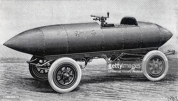 Camille Jenatzy's aluminium batterydriven electric car 'La Jamais Contente' 1899