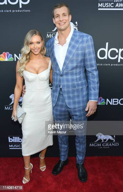 Camille Kostek and Rob Gronkowski attend the 2019 Billboard Music Awards at MGM Grand Garden Arena on May 1 2019 in Las Vegas Nevada