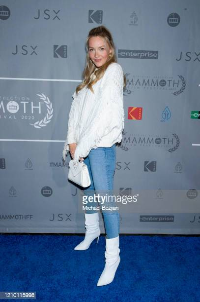 Camille Kostek arrives at 3rd Annual Mammoth Film Festival Red Carpet Monday on March 02 2020 in Mammoth Lakes California
