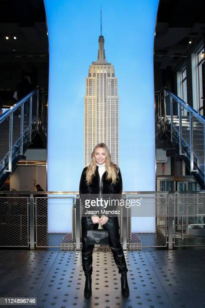 Camille Kostek at The Empire State Building on February 14 2019 in New York City